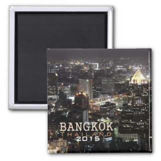 Bangkok Thailand Nighttime Travel Souvenir Magnet