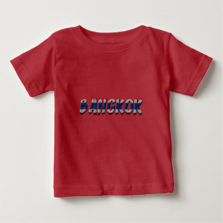 Bangkok Thailand Thai Flag Colors Typography Baby T-Shirt