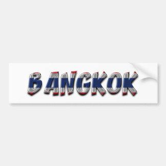 Bangkok Thailand Thai Flag Colors Typography Bumper Sticker