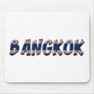 Bangkok Thailand Thai Flag Colors Typography Mouse Pad