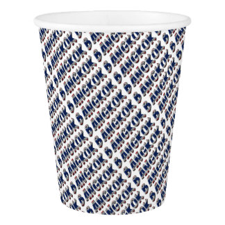 Bangkok Thailand Thai Flag Colors Typography Paper Cup