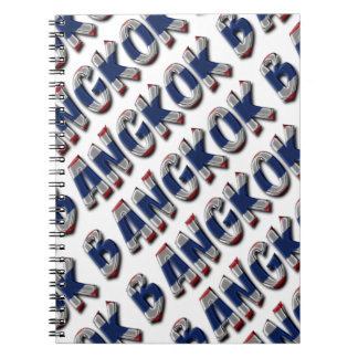 Bangkok Thailand Thai Flag Colors Typography Spiral Notebook