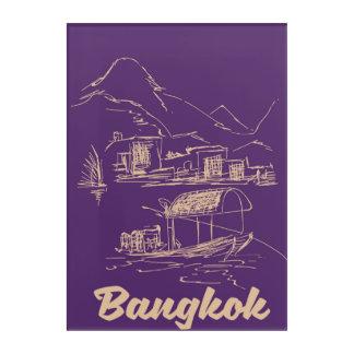 Bangkok, Thailand travel poster Acrylic Wall Art