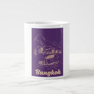 Bangkok, Thailand travel poster Large Coffee Mug