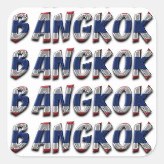 Bangkok Thailand Typography Elegant Text Only Square Sticker