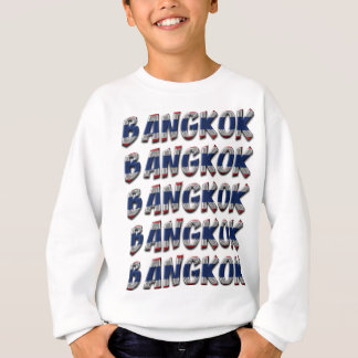 Bangkok Thailand Typography Elegant Text Only Sweatshirt
