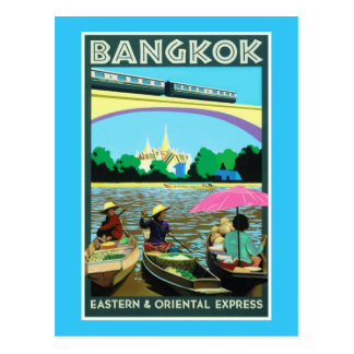 Bangkok Thailand | Vintage Travel Poster Postcard