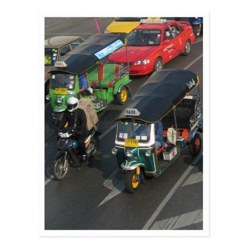 Bangkok Traffic ... Tuk Tuk Racing Post Card
