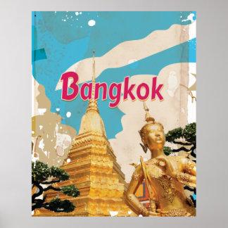Bangkok Vintage Travel Poster