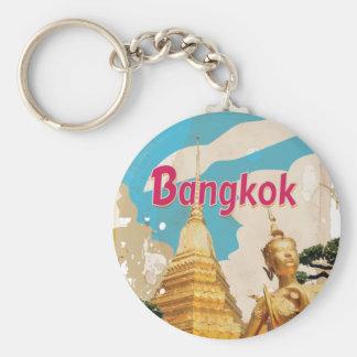 Bangkok Vintage Travel Poster Key Ring