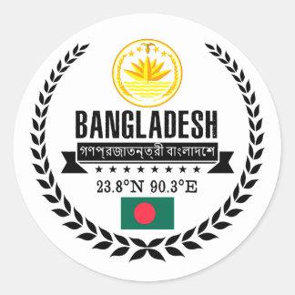 Bangladesh Classic Round Sticker