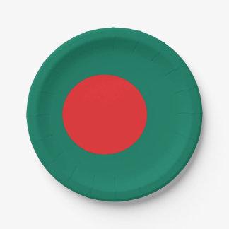 Bangladesh flag 7 inch paper plate