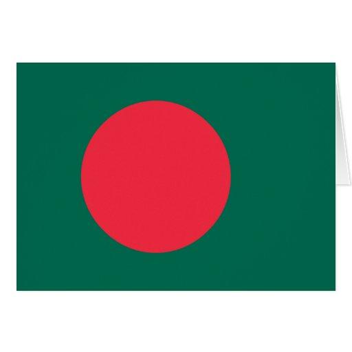 Bangladesh Flag; Bangladeshi; Greeting Card