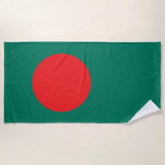 Bangladesh flag beach towel