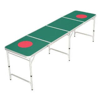 Bangladesh Flag Beer Pong Table