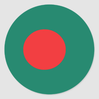 Bangladesh flag classic round sticker