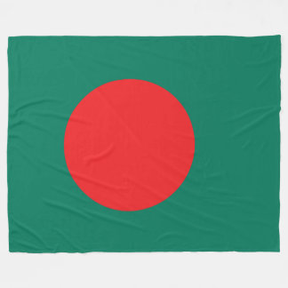 Bangladesh flag fleece blanket