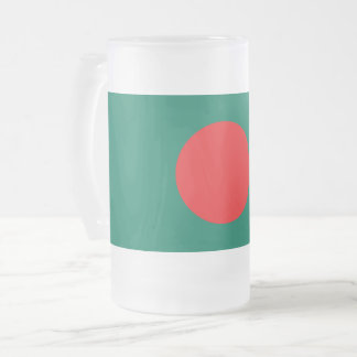 Bangladesh flag frosted glass beer mug