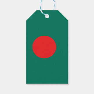 Bangladesh flag gift tags
