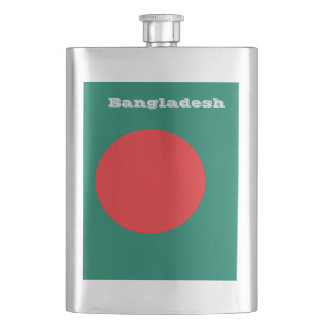 Bangladesh flag hip flask