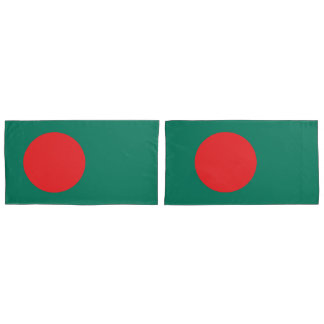 Bangladesh flag king pillowcase