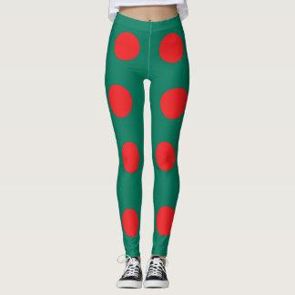 Bangladesh flag leggings