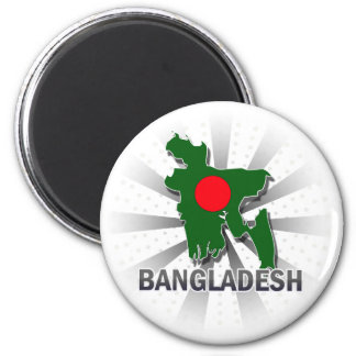 Bangladesh Flag Map 2.0 Magnet