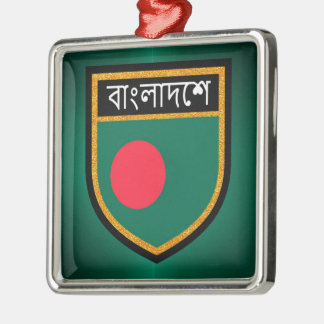 Bangladesh Flag Metal Ornament