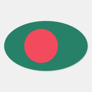 Bangladesh Flag Oval Sticker