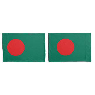 Bangladesh flag pillowcase