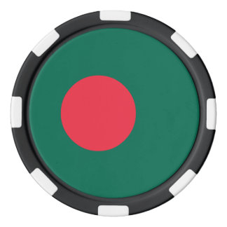 Bangladesh Flag Poker Chips