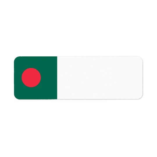 Bangladesh Flag Return Address Label