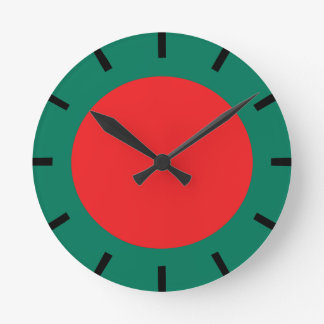 Bangladesh flag round clock