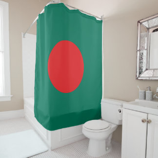 Bangladesh flag shower curtain