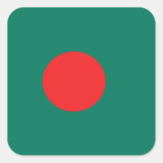 Bangladesh flag square sticker