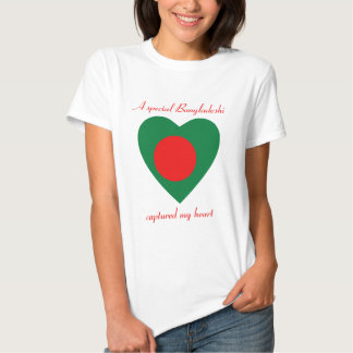 Bangladesh Flag Sweetheart T-Shirt