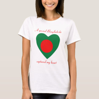 Bangladesh Flag Sweetheart T-Shirt