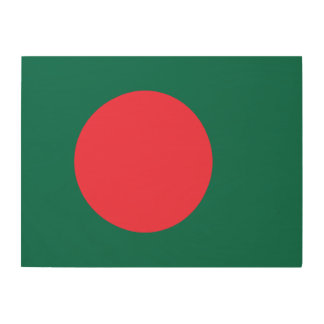 Bangladesh Flag Wood Wall Decor