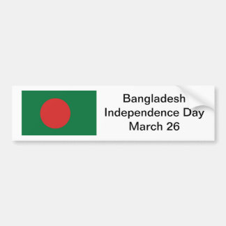 Bangladesh Independence Day Bumper Sticker