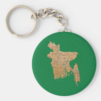 Bangladesh Map Keychain