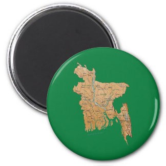 Bangladesh Map Magnet