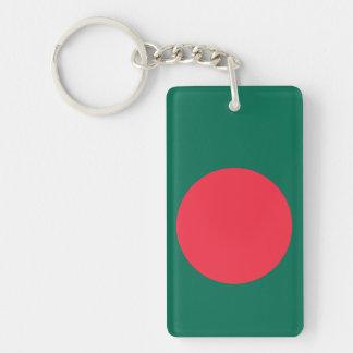 Bangladesh National World Flag Double-Sided Rectangular Acrylic Key Ring
