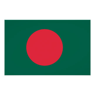 Bangladesh National World Flag Poster