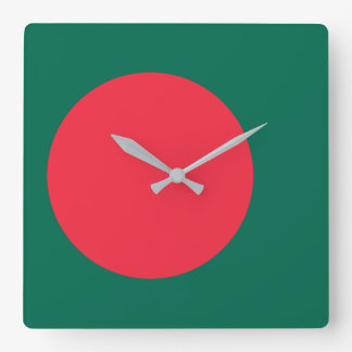 Bangladesh National World Flag Square Wall Clock