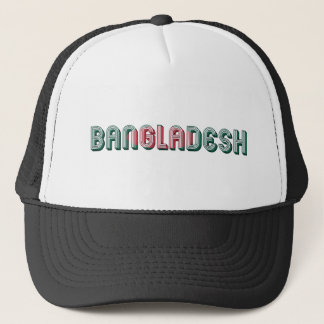 Bangladesh South Asia Typography Flag Colors Trucker Hat