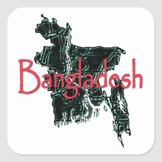 Bangladesh Square Sticker