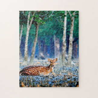 Bangladesh Sundarban Native Deer Jigsaws. Jigsaw Puzzle