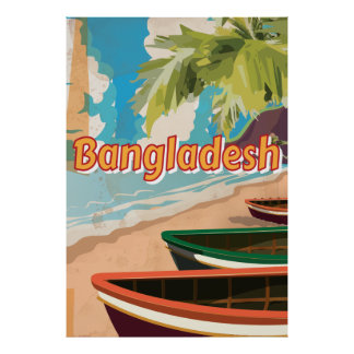 Bangladesh Vintage vacation Poster