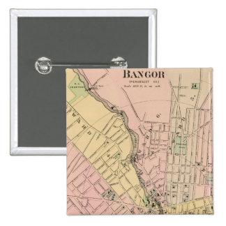 Bangor, Brewer, Maine 15 Cm Square Badge