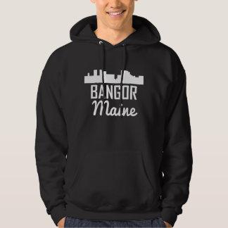Bangor Maine Skyline Hoodie